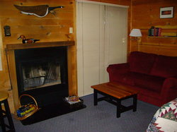 Cabin 5 is our Fireplace Cabin