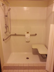 Handicap Deluxe Suite Shower  NOT ROLL IN