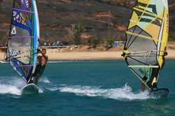 Windsurfing in Andros