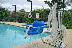 Outdoor Pool with Chair Assist