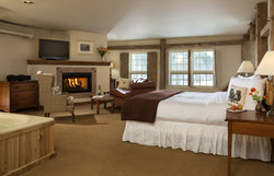 Lower Pack House Bedroom with Fireplace