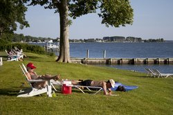 Sandaway Suites & Beach -  enjoy our waterfront lawn for hotel and vacation rental guests
