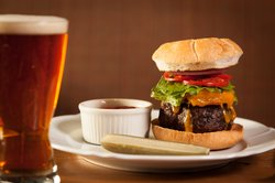 Burger at Glasbern Pub with Refined Dining Options