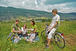 The ideal region for cycling with the family
