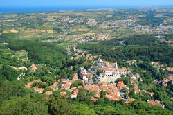 Sintra's mountain and sea