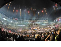 Fireworks At Sports Authority Field Credit Steve C