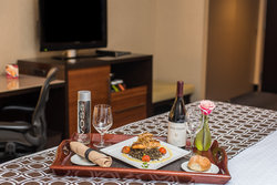 Dine in style without ever leaving your room.