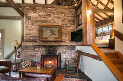 Garden Cottage Living Room and Fireplace