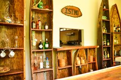 The Istmo Bar is made from Reclaimed Cayucos.