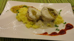 Seared Scalloped w/Tumeric Risotto