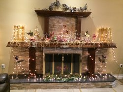 Eloquently Decorated Fireplace in The Atrium