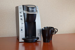 All Guest Rooms feature Keurig coffee makers