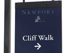 cliff walk sign