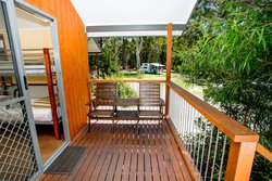 Banksia Open Plan Studio outdoor seating