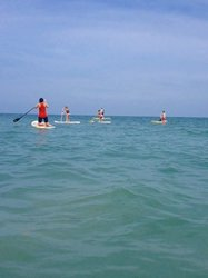 Group out on SUP boards at Playa Gande