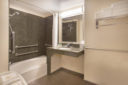 ADA accessible Guest Bathroom with mobility tub