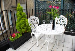Enjoy the serenity of your own outdoor terrace