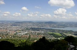 View from Zurich's domestic mountain Uetliberg