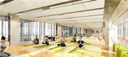 Yoga Studio - Ten X Sports Club Rendering