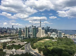 View from the roof of Hotel X Toronto