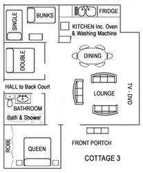 Cottage Three Floorplan