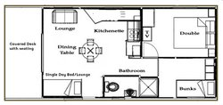 Cabin 5 and 6 Floor Plan