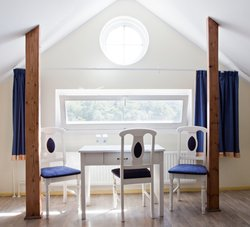 Well Lighted Twin Room