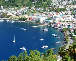 Soufriere waterfront as seen from a Lookout Point