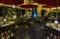 Sunset Grille Outdoor Patio At Night