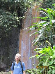 Guest In Front Of Diamond Falls