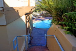 Back Stairs to Pool