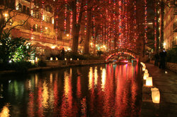 Holiday River Lights
