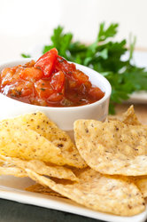 Salsa & Chips Close Up