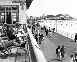 Second Floor Deck Overlooking the Boardwalk prior to 1927