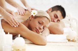 Couples Massage Stock