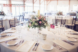 Glasbern Weddings Table Floral Settings