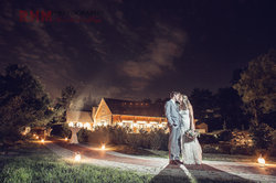 Glasbern Wedding Photography Nights and Lights by the Pond