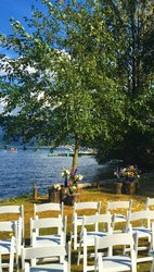 Lakeside Wedding Chairs & Flowers