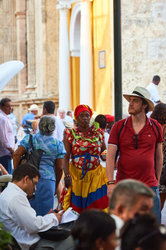 Palenquera and Tourist