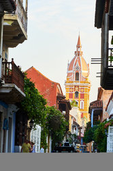 Beautiful View of the Cathedral of Cartagena