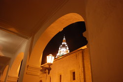 Arch and Cathedral of Cartagena
