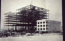 Building the Hotel - March 1923