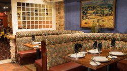 Bistro. Banquettes Of