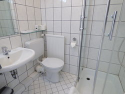 Hotel ALT Büttgen, single room classic bathroom with shower