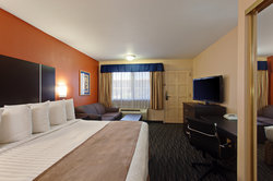 Our spacious king room.