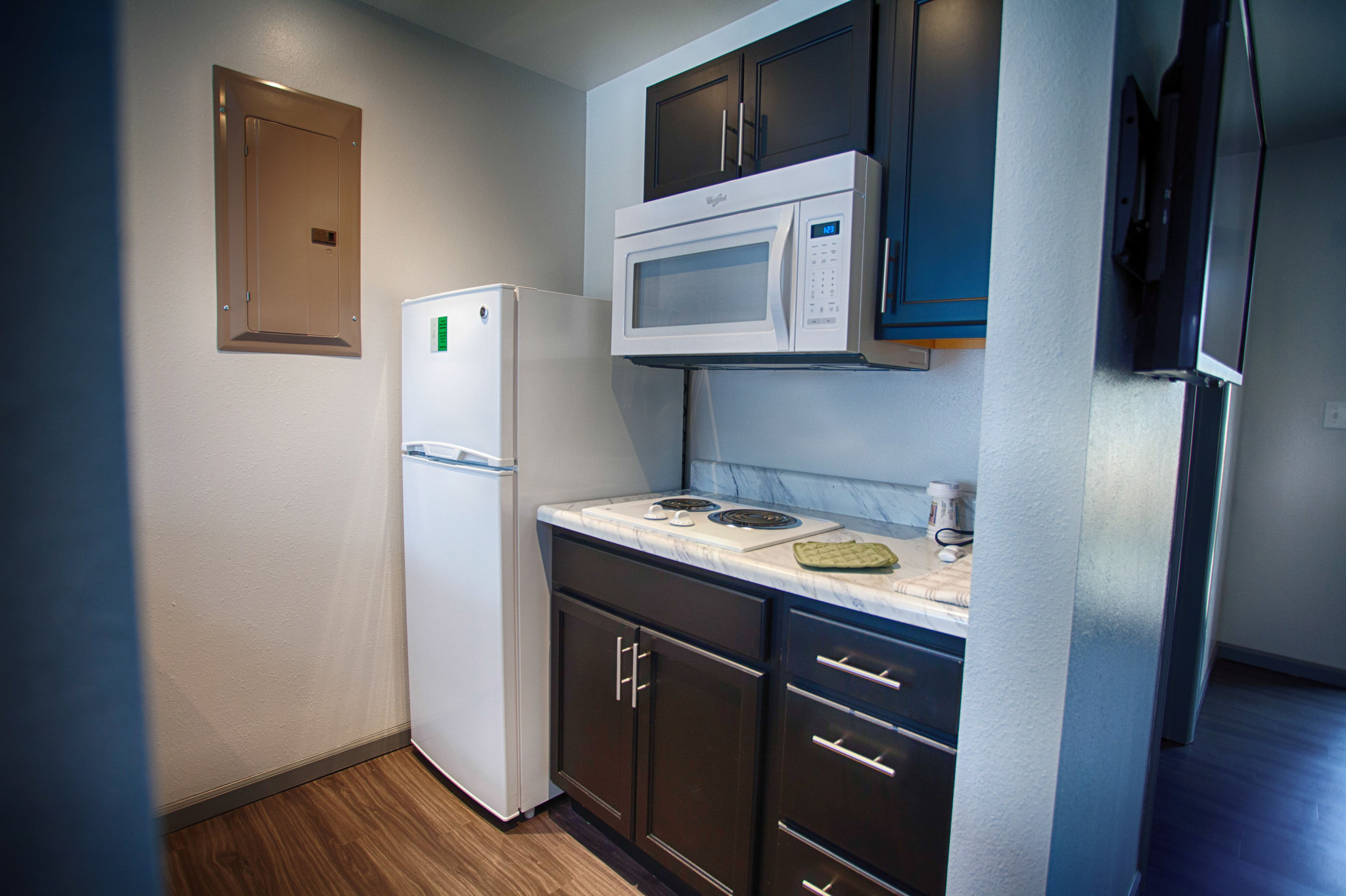 new kitchen of strip beautiful kitchenette with vegas picture hotels las