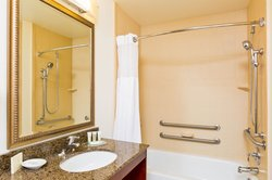 Stylish Guest Bathroom includes ADA Transfer Tub