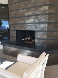 Health Club Fireplace Seating Area