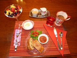 Unique breakfast ~ freshly prepared and served.