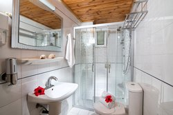 Bathroom of the One Bedroom Apt with Hydromassage Shower